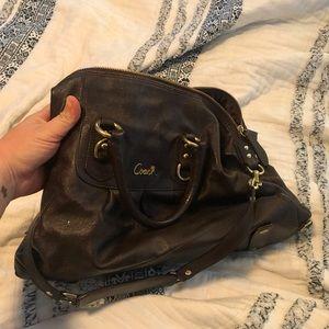 Coach black medium purse